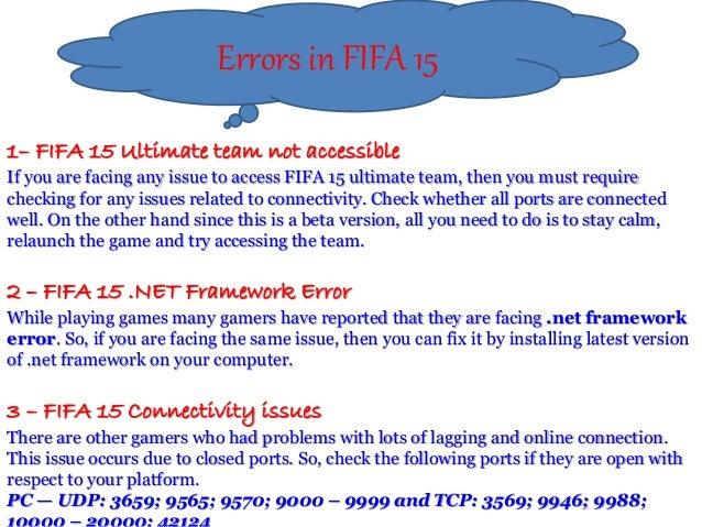 Fifa 15 game error