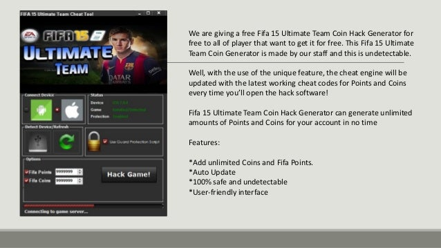 Fifa 15 Ultimate Team Hack Tool Cheats Free Coins & Points