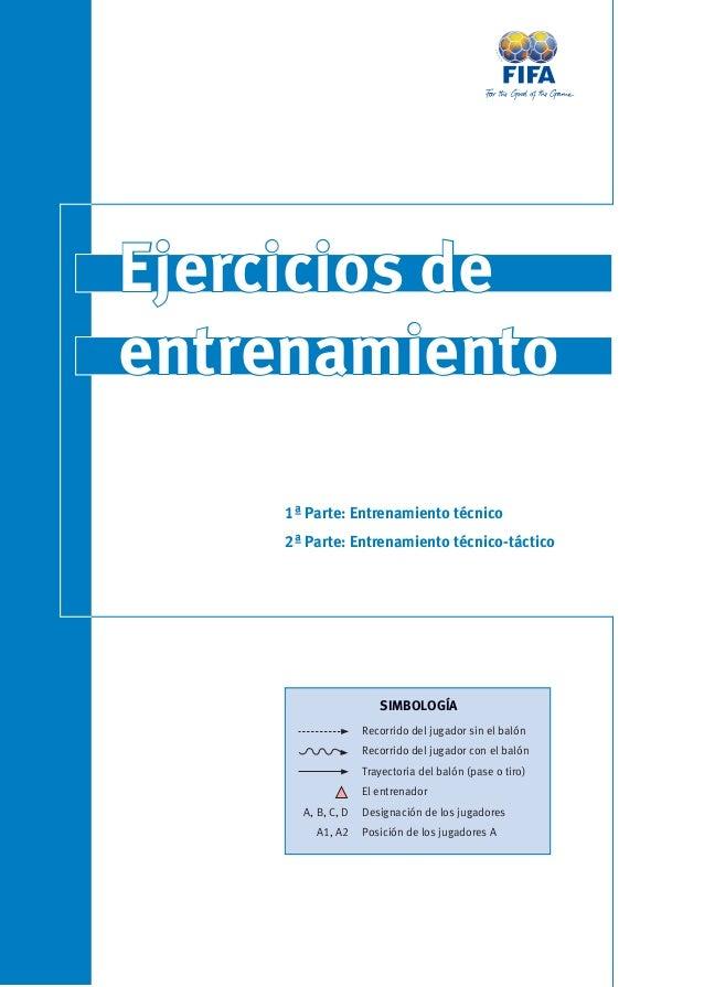 Ejercicios de  entrenamiento  1ª Parte: Entrenamiento técnico  2ª Parte: Entrenamiento técnico-táctico  Recorrido del juga...