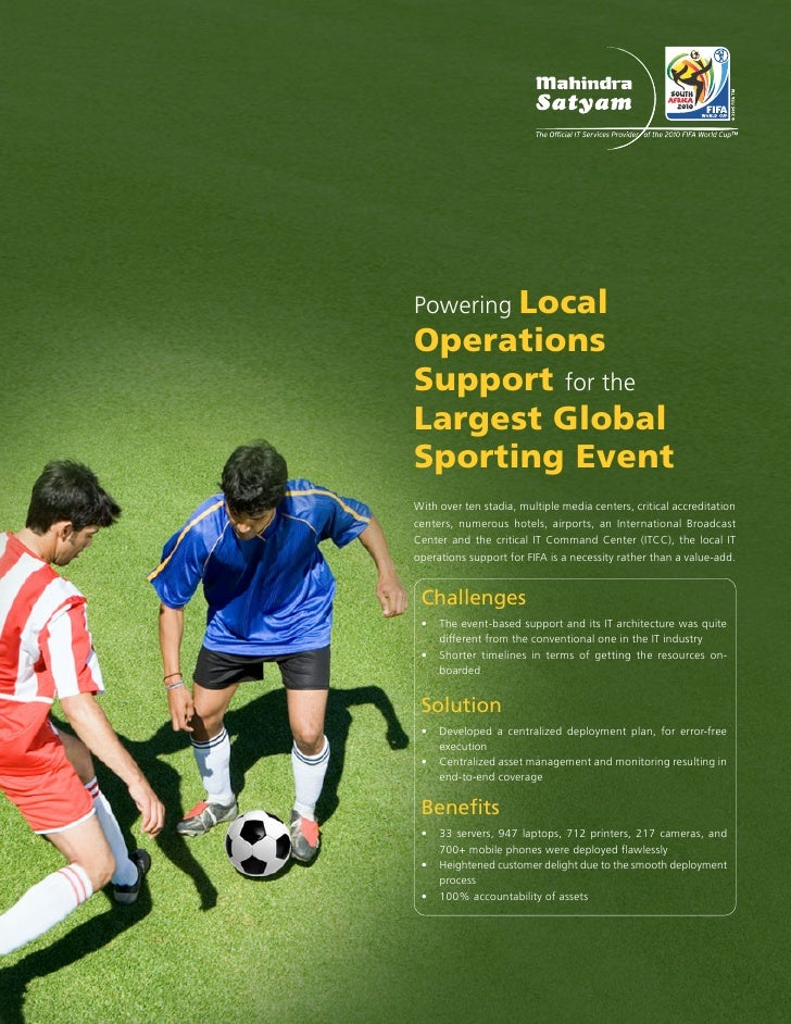 Powering Local Operations Support for the Largest Global Sporting Event With over ten stadia, multiple media centers, crit...