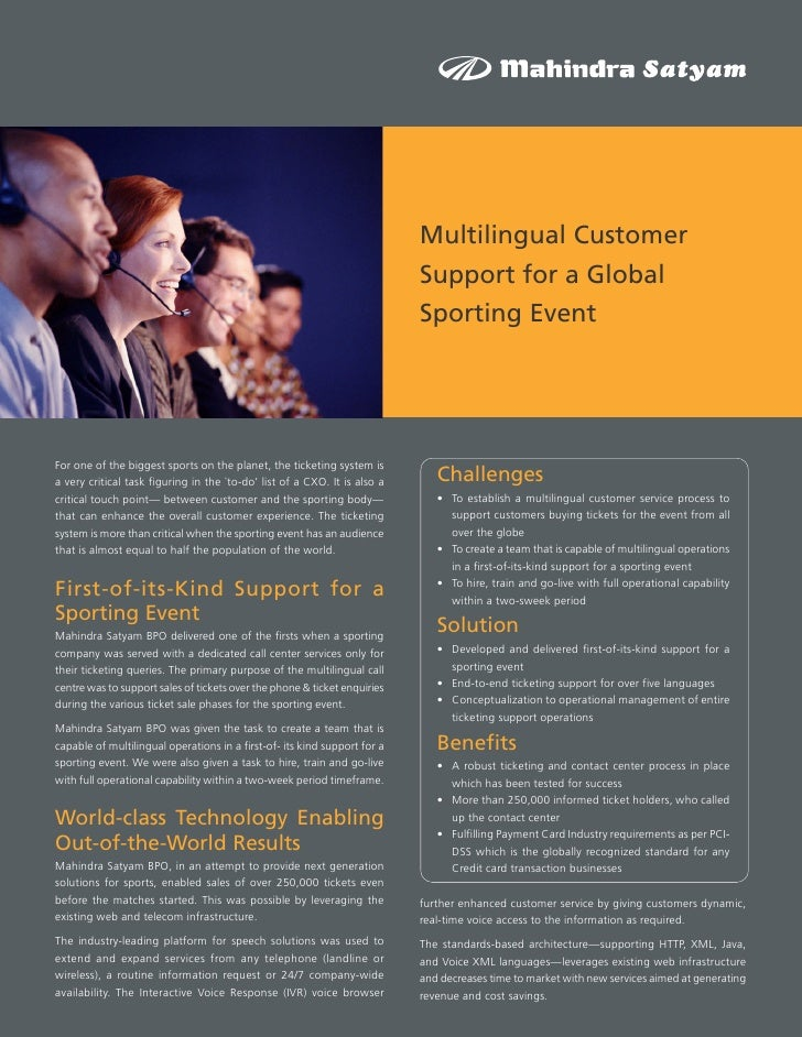 Multilingual Customer                                                                            Support for a Global     ...