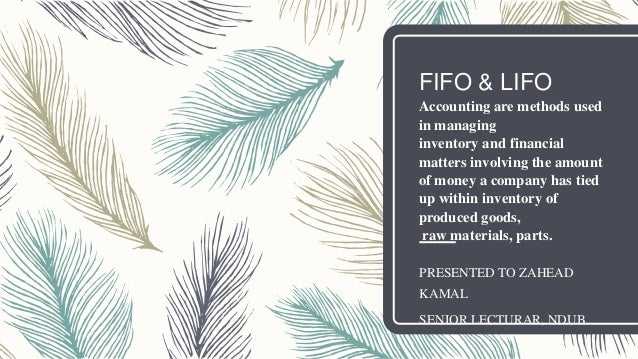 FIFO & LIFO Accounting are methods used in managing inventory and financial matters involving the amount of money a compan...
