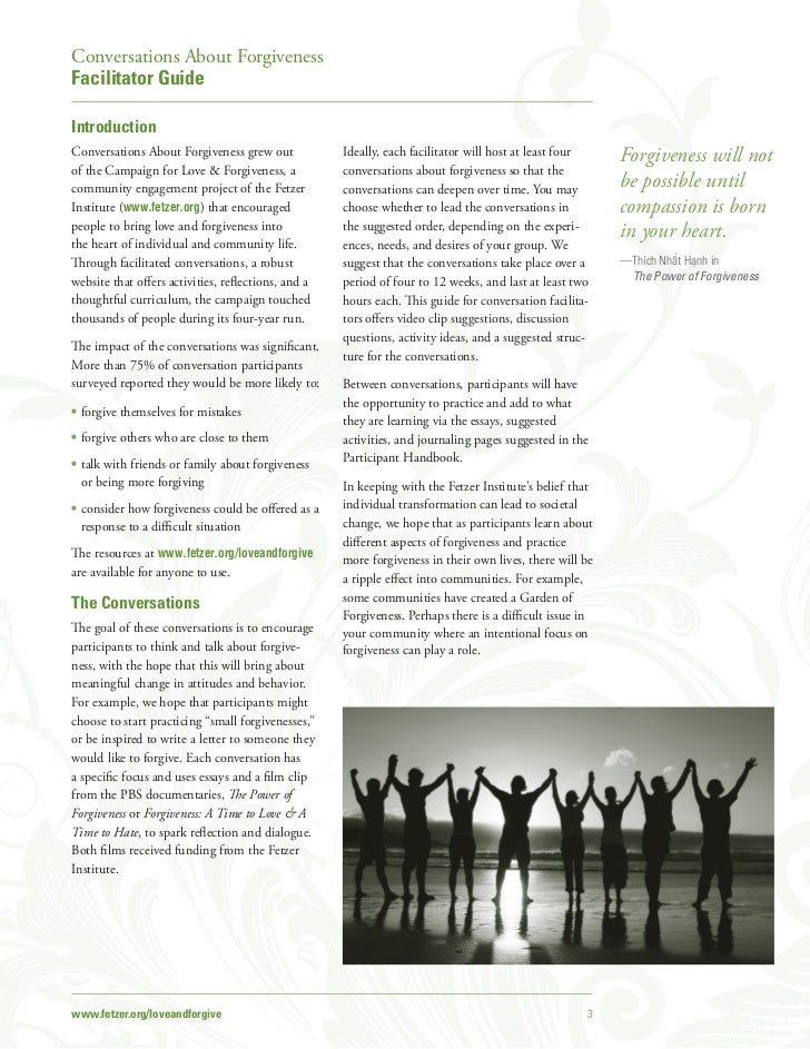 conversations about forgiveness facilitator guide jpg cb  2011 fetzer institute 2 3 conversations about forgivenessfacilitator guideintroductionconversations about forgiveness