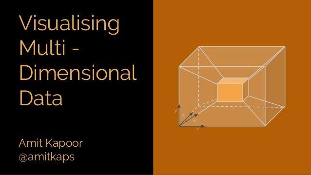 Amit Kapoor @amitkaps Visualising Multi - Dimensional Data x w z y
