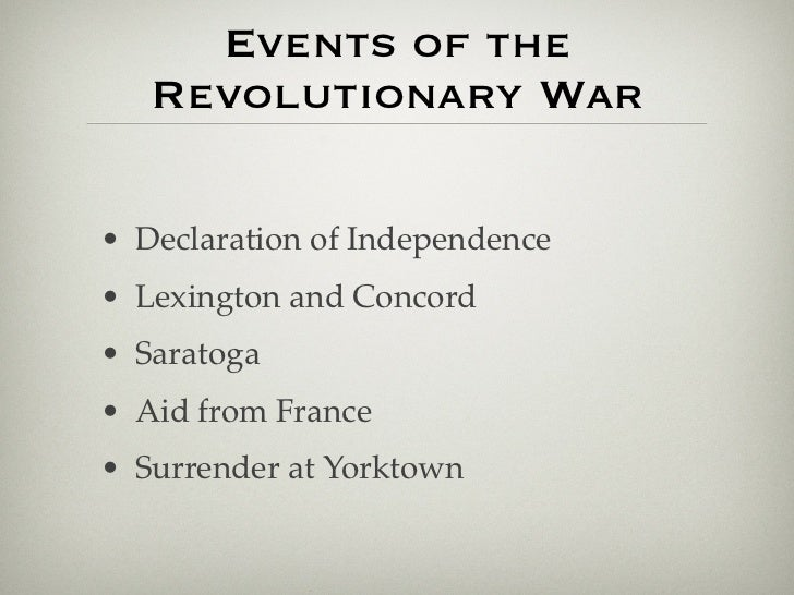 the revolutionary war outline Start studying revolutionary war study guide and answers learn vocabulary, terms, and more with flashcards, games, and other study tools.