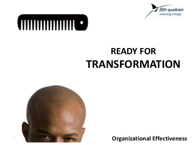 Organizational EffectivenessREADY FORTRANSFORMATION