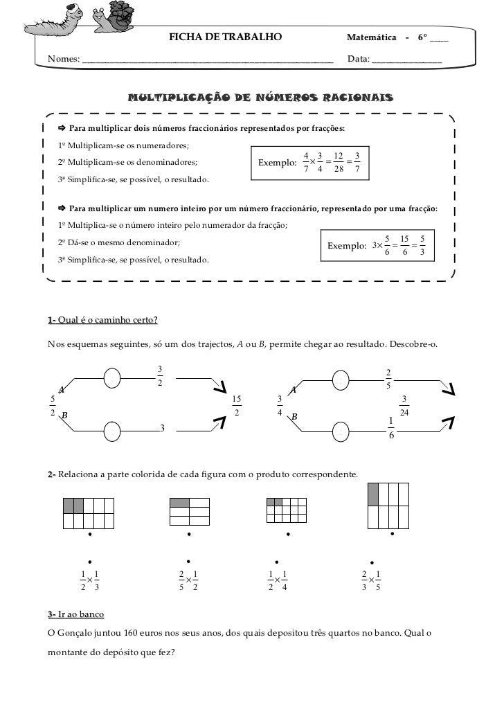 Fi ft multiplicação de fracções