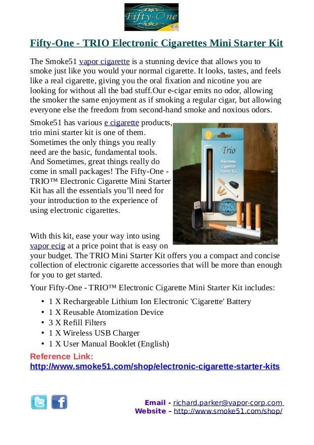 Fifty-One - TRIO Electronic Cigarettes Mini Starter Kit