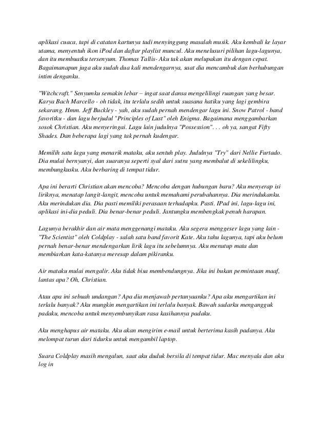 Dari: Anastasia Steele Perihal: iPad Tanggal: 9 Juni 2011 23:56 Untuk: Christian Grey Kau telah membuatku menangis lagi. A...