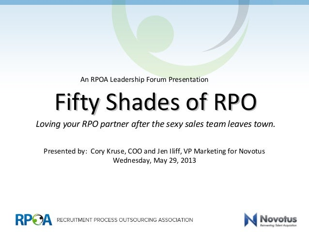 Fifty Shades of RPOFifty Shades of RPOLoving your RPO partner after the sexy sales team leaves town.Presented by: Cory Kru...