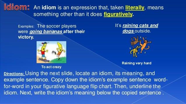 Figurative Language Notes: Personification, Idiom & Hyperbole