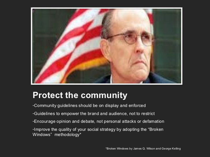 <ul><li>Protect the community </li></ul><ul><li>Community guidelines should be on display and enforced </li></ul><ul><li>G...