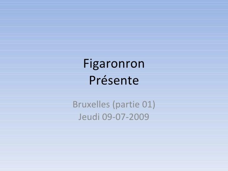 Figaronron Présente Bruxelles (partie 01) Jeudi 09-07-2009