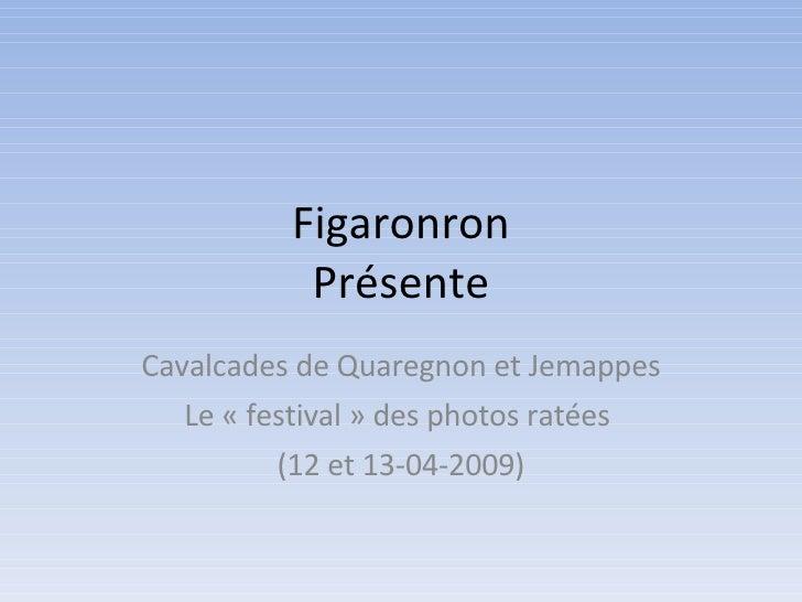 Figaronron Présente Cavalcades de Quaregnon et Jemappes Le «festival» des photos ratées  (12 et 13-04-2009)