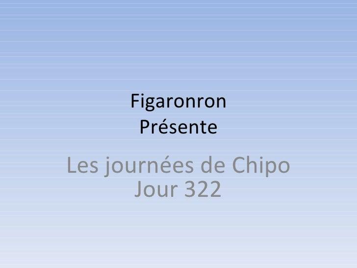 Figaronron      PrésenteLes journées de Chipo       Jour 322