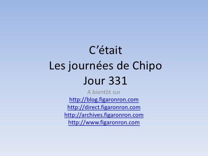 Les journées de Chipo - Jour 331