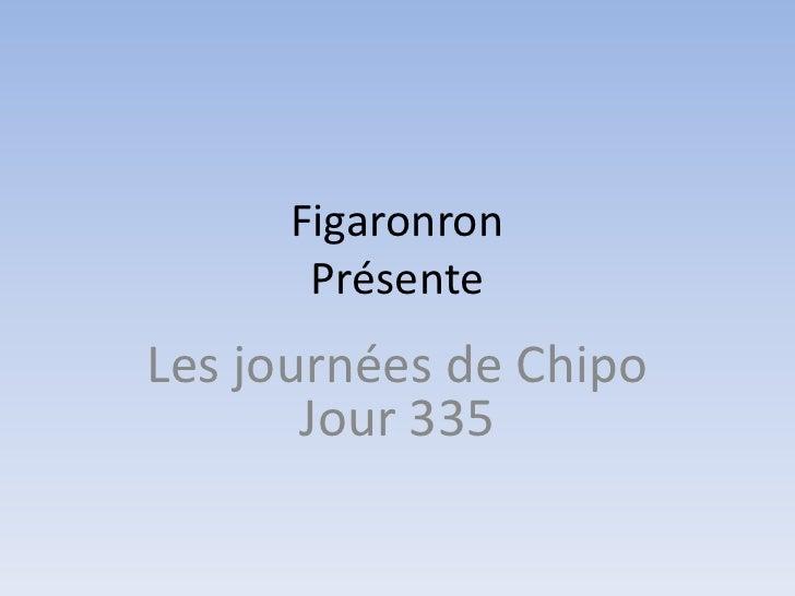 Figaronron       PrésenteLes journées de Chipo       Jour 335