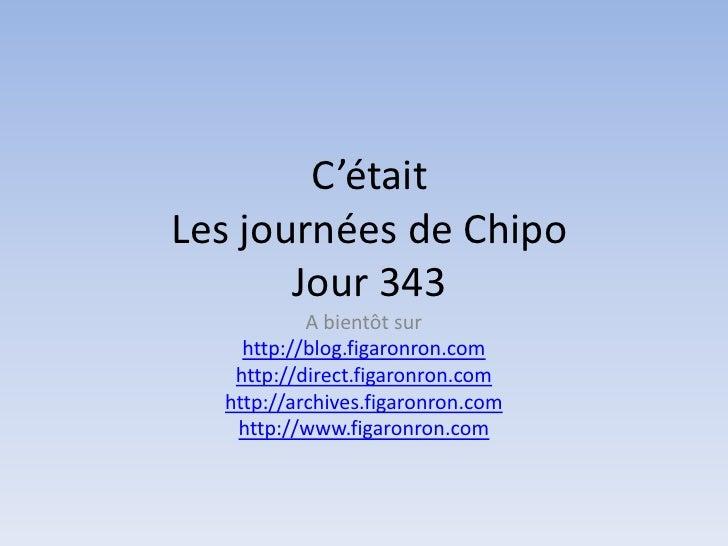 Les journées de Chipo - Jour 343