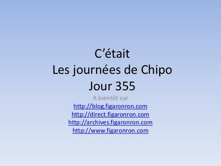 Les journées de Chipo - Jour 355
