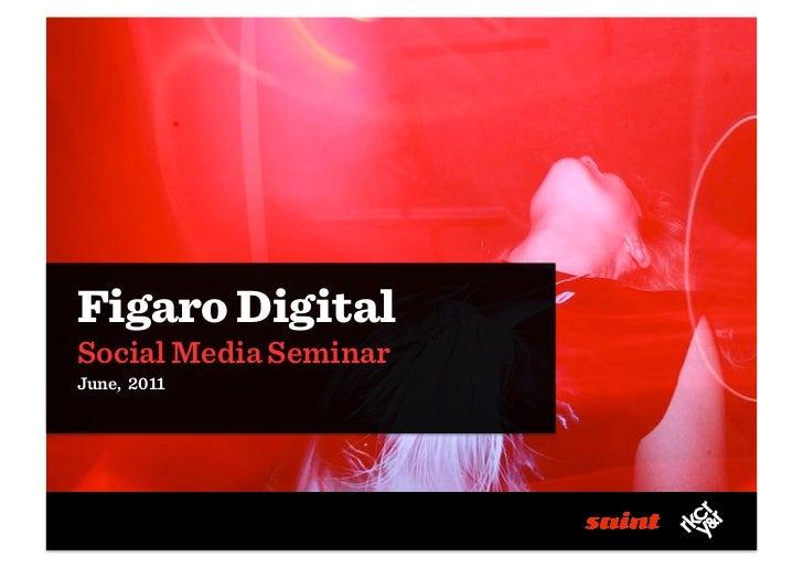 Figaro DigitalSocial Media SeminarJune, 2011