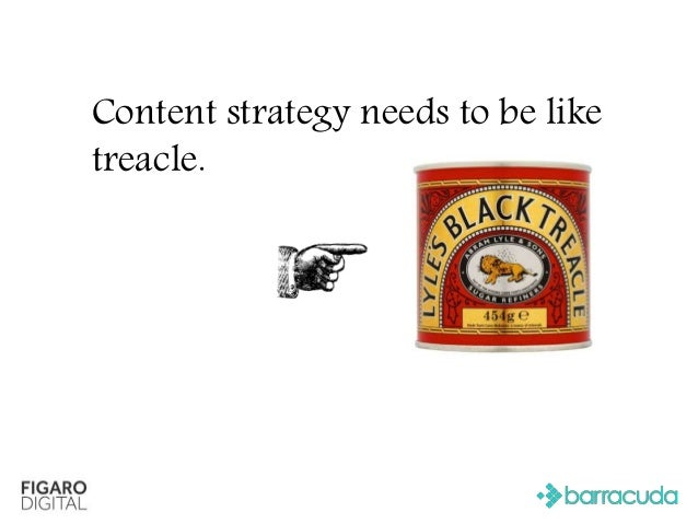 Content strategy needs to be like treacle.
