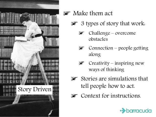 Stories Make them act