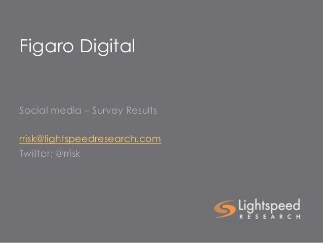 Figaro DigitalSocial media – Survey Resultsrrisk@lightspeedresearch.comTwitter: @rrisk