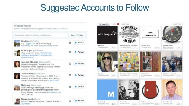 SuggestedAccounts to Follow