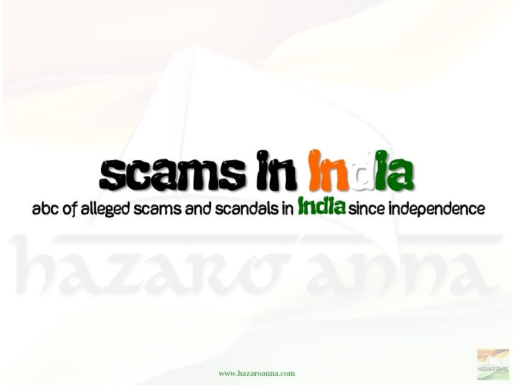 ABC of alleged scams and scandals in          since independence                         www.hazaroanna.com