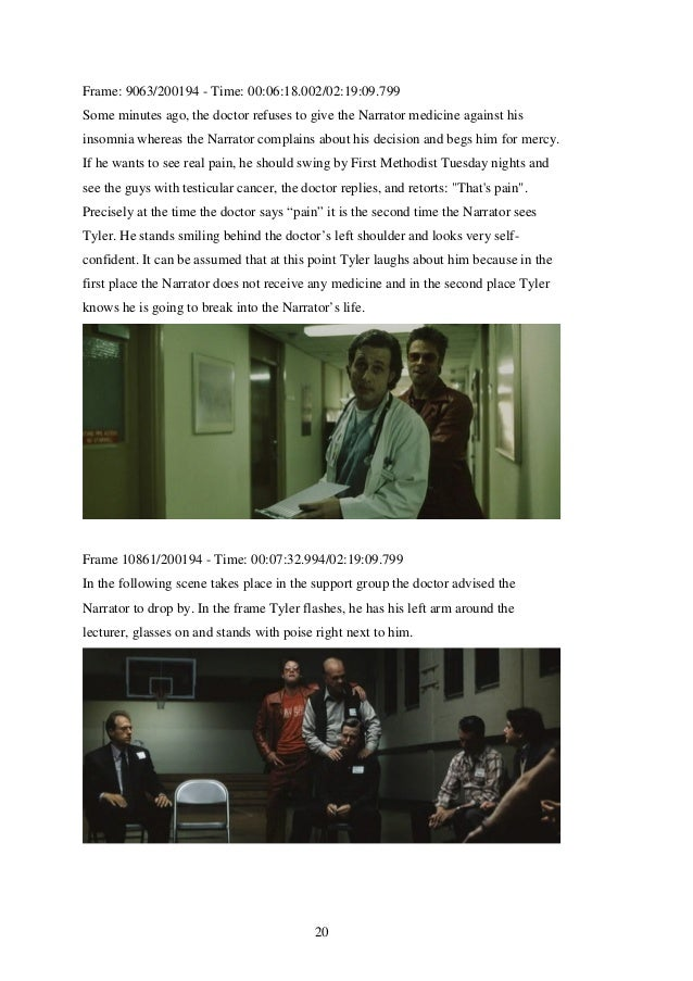 an analysis of the characters in the movie the fight club Fight club study guide contains a biography of chuck palahniuk, literature essays, quiz questions, major themes, characters, and a full summary and analysis.