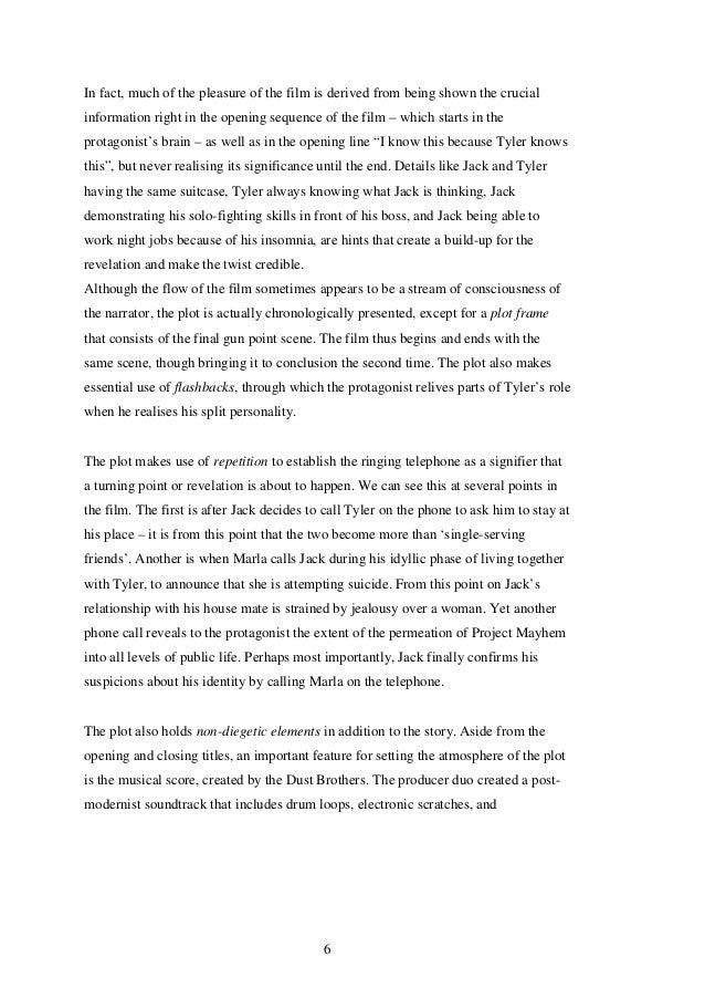 Fight Club End Scene Analysis Essays - image 10