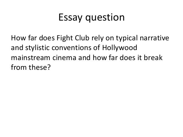 fight club and postmodernism essay
