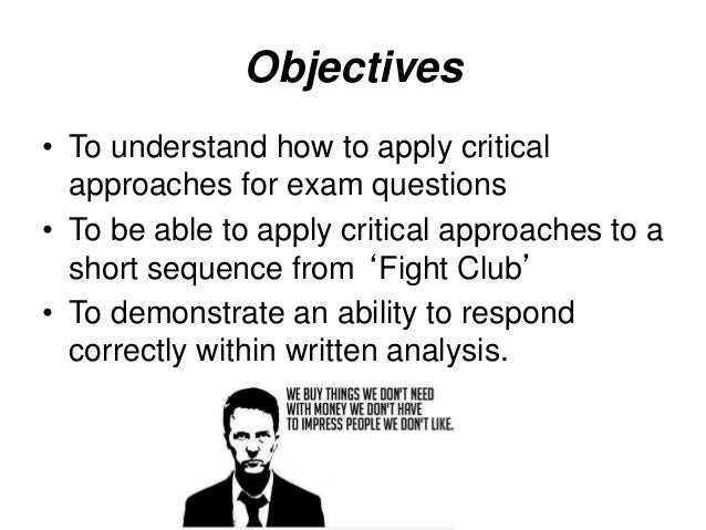 essay questions on fight club