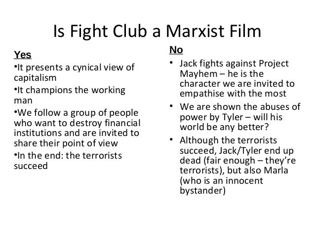 Fight club essay thesis statement