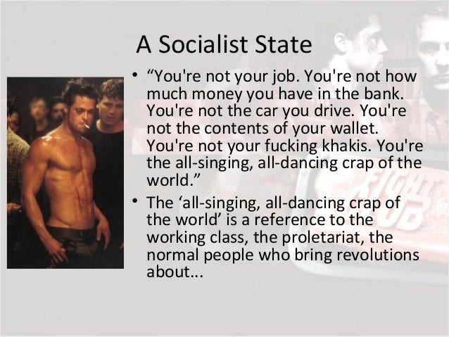 """fight club marxism essays Williams"""" 1977 marxism and literature (182-85), fight club as a work seems to best fit into that category of marxist reading called the strike novel characterized."""