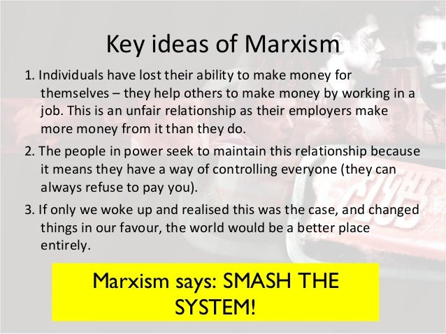 thesis statement about marxism Based on the ideas of karl marx, this theoretical approach asks us to consider how a literary work reflects the socioeconomic conditions of the time in which it.