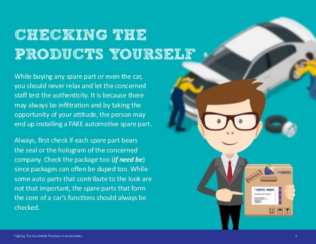How to spot counterfeit Auto Parts? Slide 3
