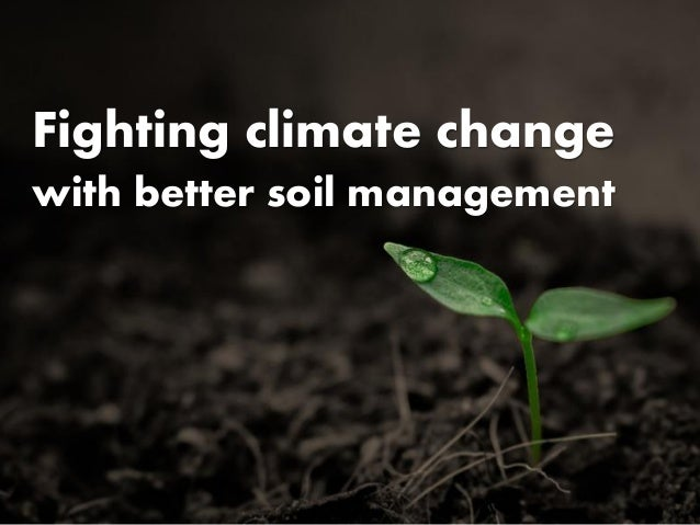 Fighting climate change with better soil management