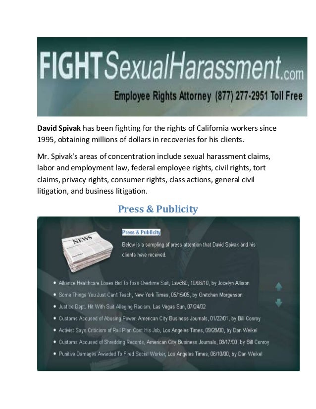David spivak sexual harassment