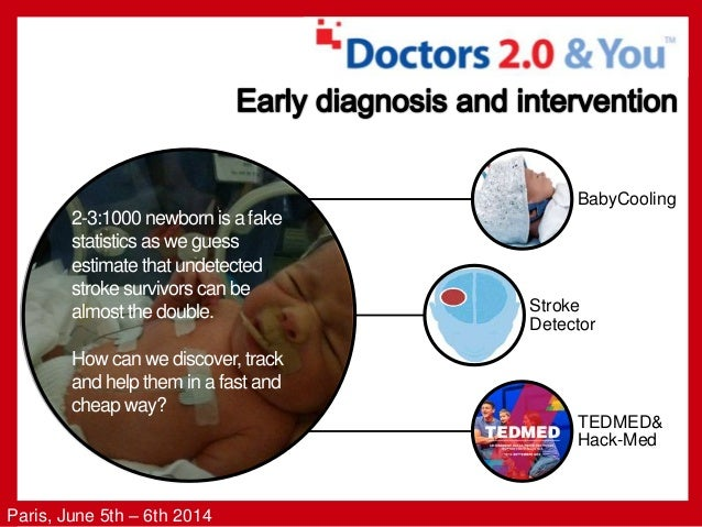 Paris, June 5th – 6th 2014 BabyCooling Stroke Detector TEDMED& Hack-Med 2-3:1000 newborn is a fake statistics as we guess ...