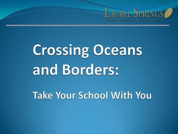 Anywhere, Anytime, Anyplace Learn about the advantages of distance learning while living abroad or in transition.  Come aw...