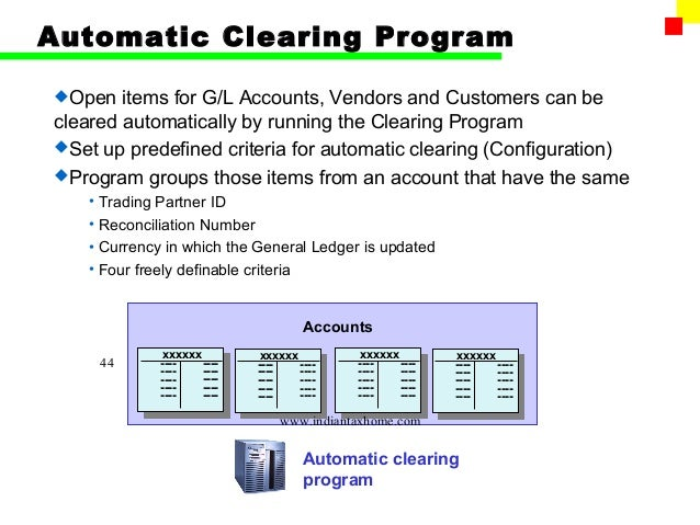 how to clear gl account open items in sap
