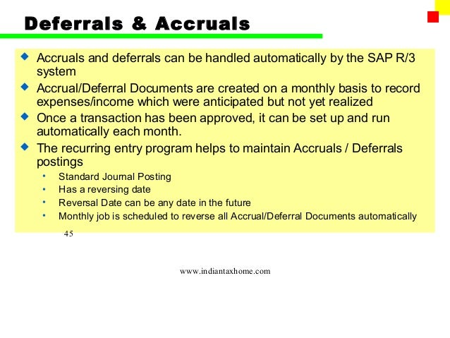 accrual and a deferral