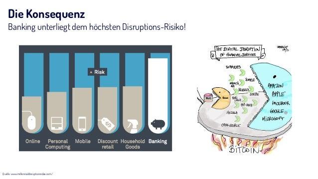 Die Konsequenz Banking unterliegt dem höchsten Disruptions-Risiko! Quelle: www.millennialdisruptionindex.com/