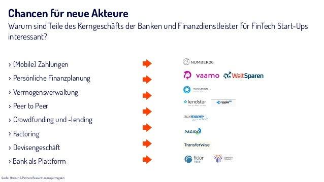 Chancen für neue Akteure Warum sind Teile des Kerngeschäfts der Banken und Finanzdienstleister für FinTech Start-Ups inter...