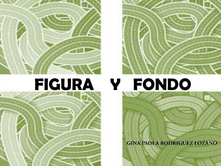 FIGURA    Y   FONDO<br />GINA PAOLA RODRIGUEZ LOZANO<br />