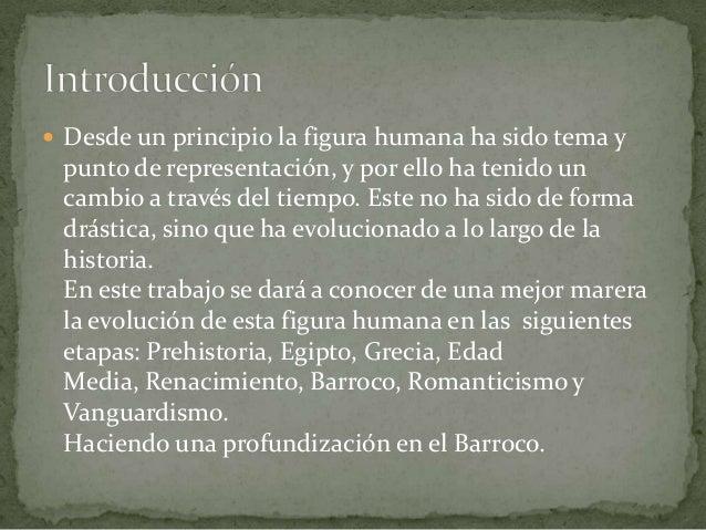 Figura humana en el arte a través de la historia Slide 2