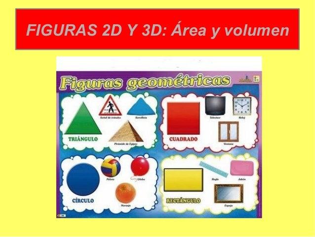 FIGURAS 2D Y 3D: Área y volumen