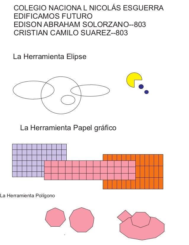 COLEGIO NACIONA L NICOLÁS ESGUERRA EDIFICAMOS FUTURO EDISON ABRAHAM SOLORZANO--803 CRISTIAN CAMILO SUAREZ--803 La Herramie...