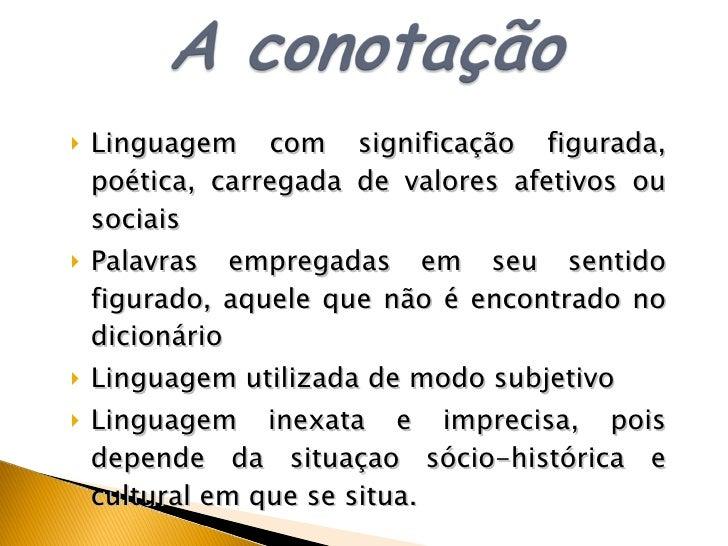 Tipos De Linguagem Denotativo Sentido Real Dicionário: Figuras De Linguagem